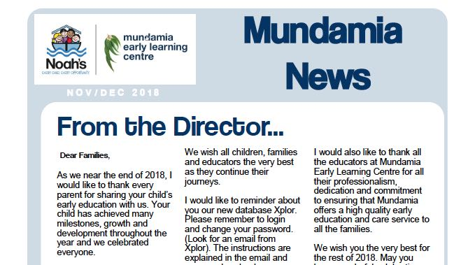 Mundamia News – Dec 2018